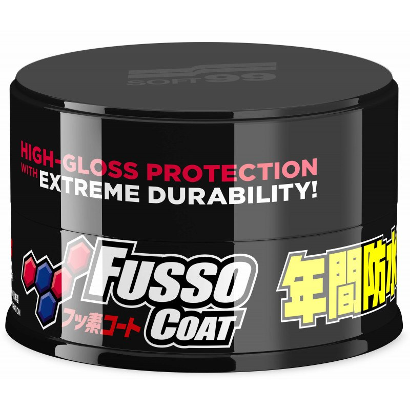 Soft99 Fusso Coat 12 Months Wax Dark 200g (Twardy wosk)